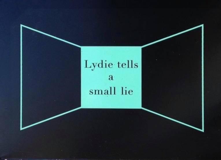 Lydie tells small lie